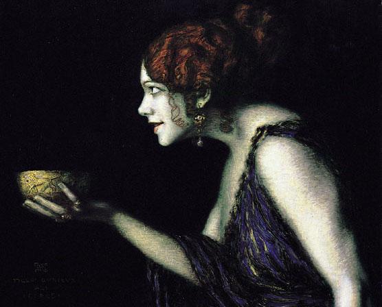 Existe-t-il une Lucy chez les sorcières ? Tilla Durieux en Circé, Franz von Stuck, 1913.