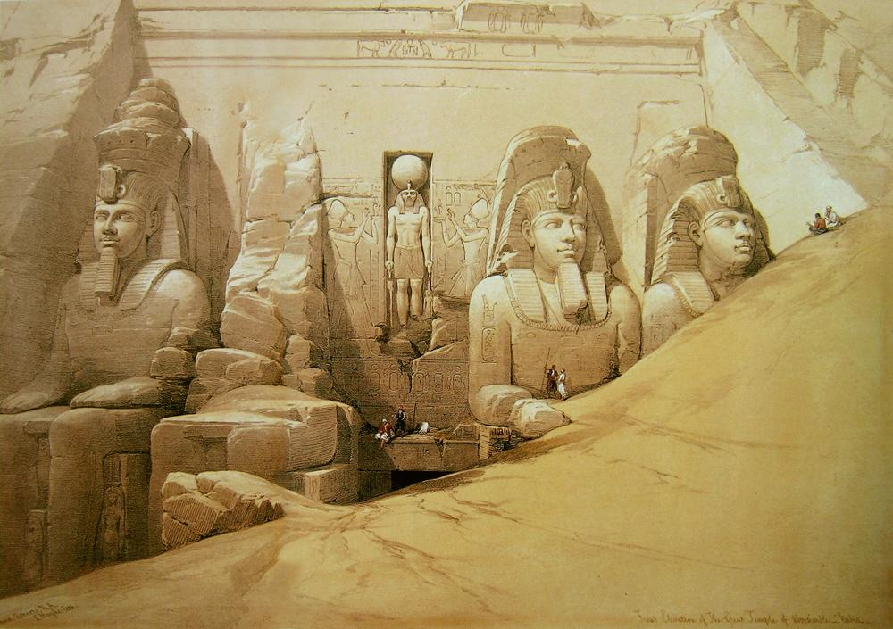 Origine du Rite de Memphis – Misraïm dans Recherches & Reflexions David_Roberts_Aboo_Simbel