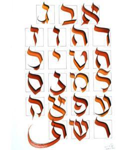 Nature des lettres - calligraphie Frank Lalou