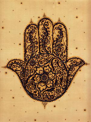 Les amulettes arabes - Khamsa - Main de Fatima - Humna