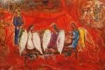 Abraham et les Trois Anges, Marc Chagall.