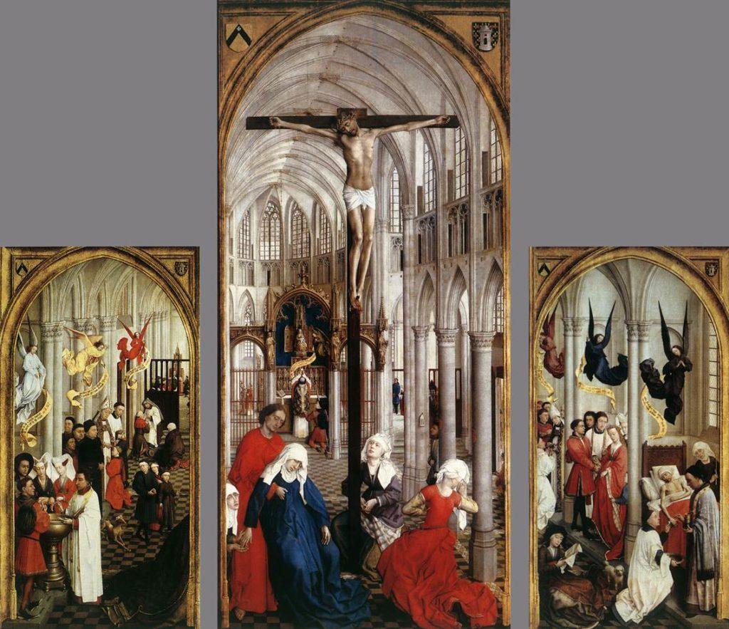 Retable des sept sacrements, Rogier van der Weyden, entre 1445 et 1450 - Les sectes hérétiques du Moyen Âge