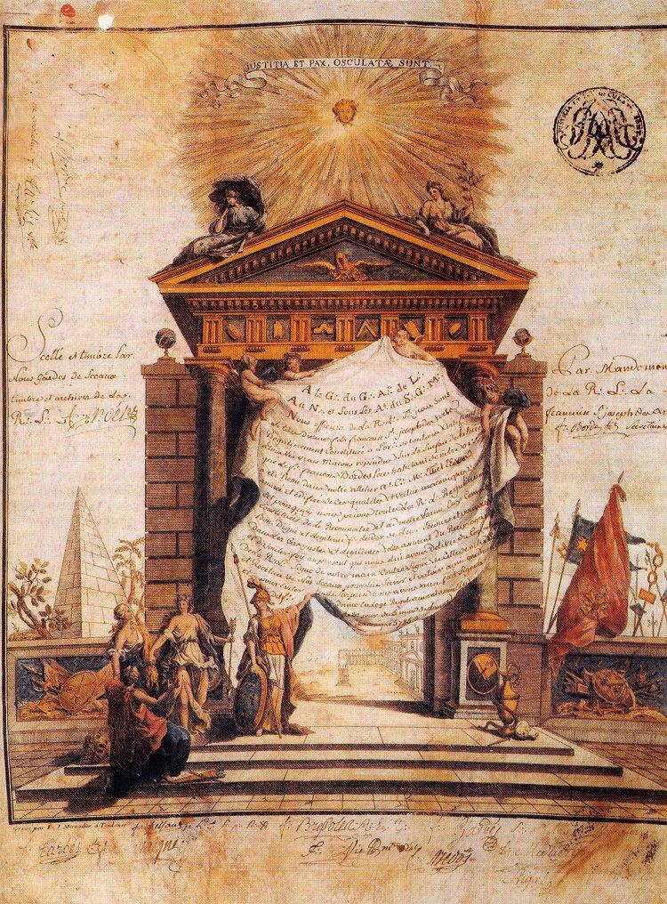 Templiers et Francs-Maçons : une filiation douteuse Diplôme maçonnique -