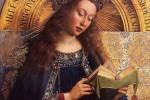 Retable de l'adoration de l'agneau mystique (détail), Jan Van Eyck, 1432. Cathédrale Saint-Bavon de Gand - Belgique.