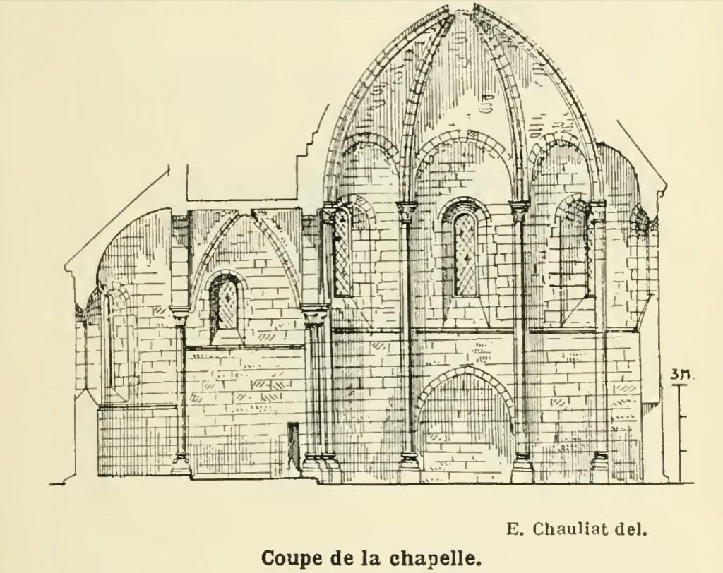 Plan de la chapelle templière