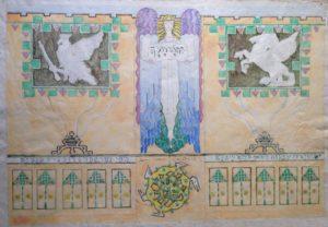 Esquisse pour un panneau pour la chapelle swedenborgienne de Bruxelles.